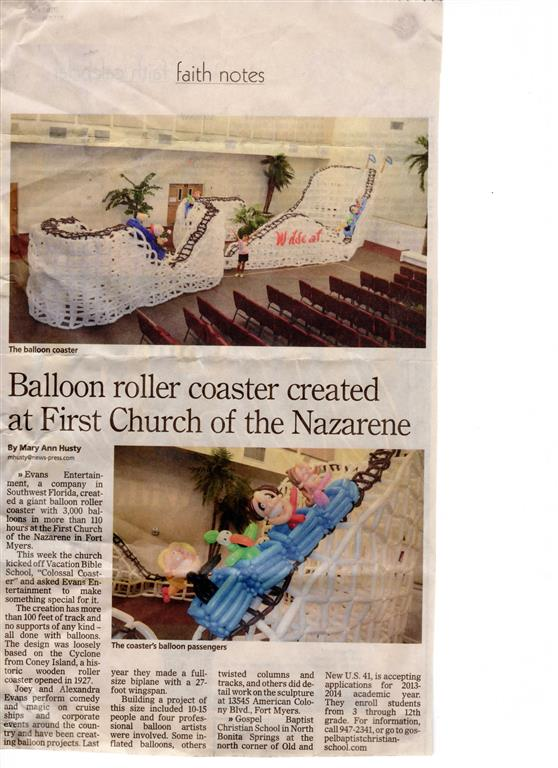Balloon Roller Coaster Article Naples Fort Myers