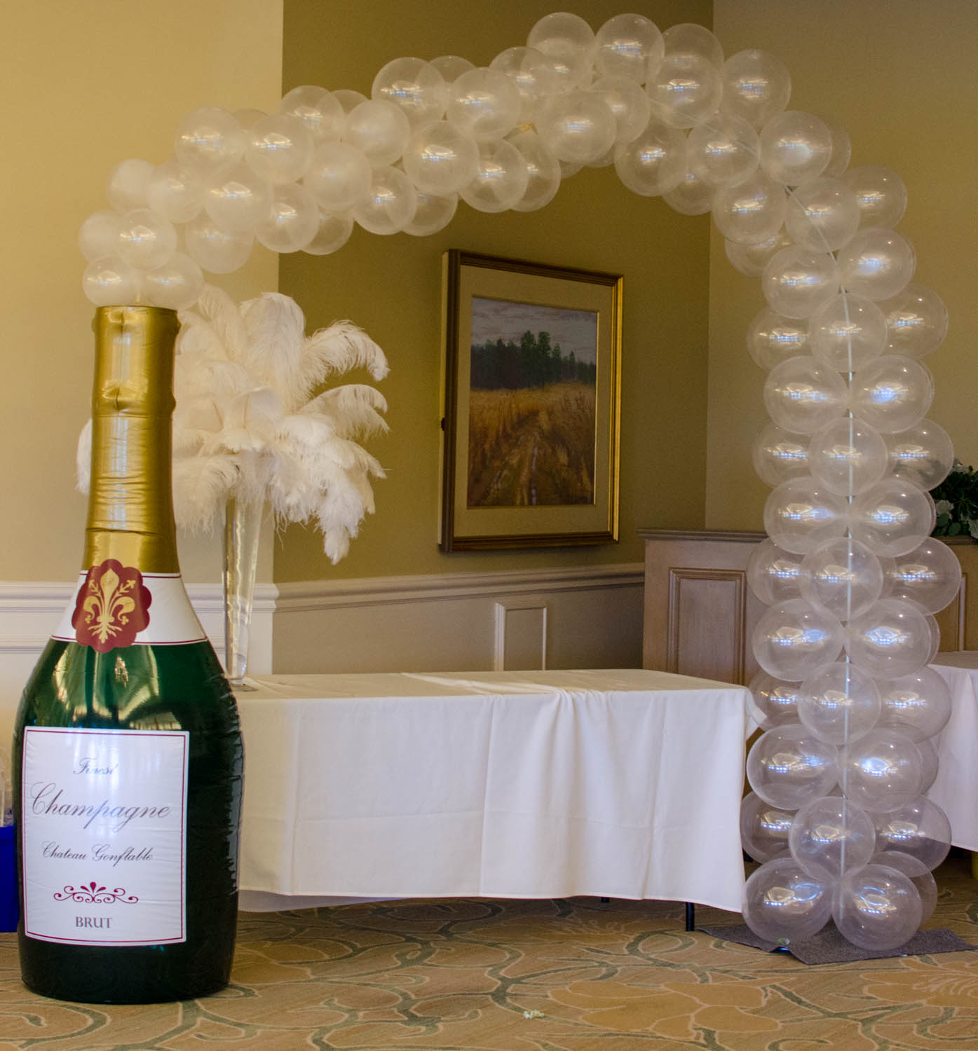 Champagne Balloon Arch Naples